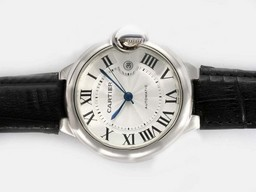 Fake Vintage Cartier Ballon Bleu de Cartier Automatic with White Dial-42MM AAA Watches [W4E8]