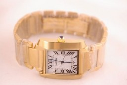 Fake Vintage Cartier Montre Santos Demoiselle Quartz Movement Full Gold Case AAA Watches [W9W5]