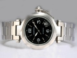 Fake Vintage Cartier Pasha Automatic with Black Dial AAA Watches [Q5N3]