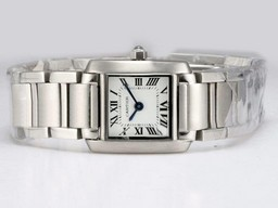 Fake Vintage Cartier Tank with White Dial Lady Size AAA Watches [V4E4]