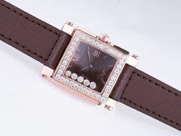 Fake Cool Chopard Happy Sport With Rose Gold Case Diamond AAA Watches [G4N4]