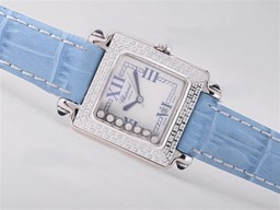 Fake Cool Chopard Happy Sport -Diamond Bezel with Blue AAA Watches [K9V7]