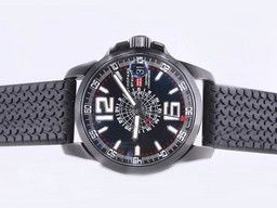 Fake Cool Chopard Mile Milgia GT Working GMT Automatic With PVD Case AAA Watches [E6R7]