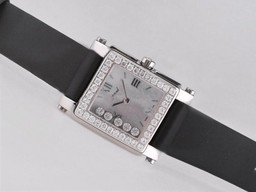 Fake Fancy Chopard Happy Sport Diamond Bezel with MOP Dial AAA Watches [C8G3]