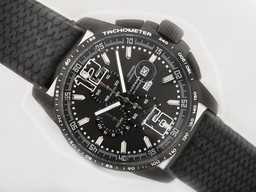 Fake Gorgeous Chopard Mile Miglia GTXXL Working Chronograph PVD Case with Black Dial AAA Watches [X1D2]