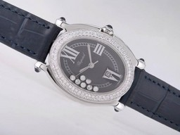 Fake Modern Chopard Happy Sport Oval Diamond Bezel AAA Watches [I6V9]
