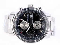 Fake Modern Chopard Mile Miglia Chrono Automatic Grand Prix Edition with Black Dial AAA Watches [W8E4]