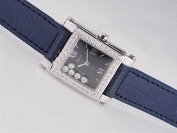 Fake Perfect Chopard Happy Sport Diamond Bezel with Blue Dial AAA Watches [R4W8]