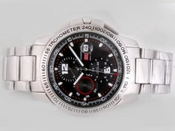Fake Popular Chopard Gran Turismo GT XL Chronograph Automatic with Black Dial AAA Watches [S1E7]