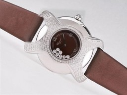 Fake Quintessential Chopard Happy Sport Diamond Bezel with Brown Dial AAA Watches [L9R6]