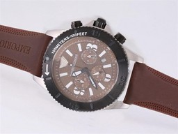 Fake Fancy Emporio Armani Työ Chronograph Brown Dial AAA kellot