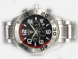 Fake Cool Girard Perregaux Ferrari Working Chronograph with Black Dial AAA Watches [J6F6]
