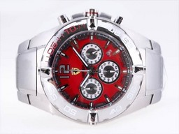 Fake- Fancy Ferrari Chronograph Arbeitsgruppe mit Red Dial- New Version Uhren AAA [ N8A9 ]