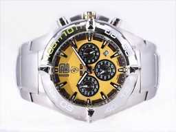 Fake Fancy Ferrari Working Chronograph with Yellow Dial-New Version AAA Watches [J3B4]