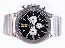 Fake Gorgeous Ferrari Working Chronograph with Black Dial-Sapphire Crystal AAA Watches [P1G6]