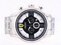 Fake Gorgeous Ferrari Working Chronograph with Black Dial AAA Watches [T5L3]