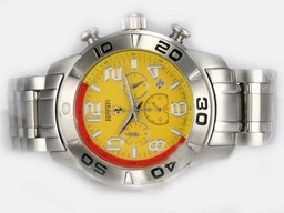 Fake Gorgeous Girard Perregaux Ferrari Working Chronograph with Yellow Dial AAA Watches [O4S9]