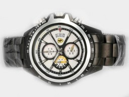 Fake Great Ferrari Working Chronograph Full PVD with White Dial-New Version AAA Watches [S3Q5]