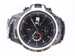 Fake Great Ferrari Working Chronograph Full PVD with Black Dial AAA Watches [U5T2]