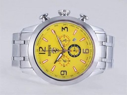 Fake Great Ferrari Working Chronograph with Yellow Dial AAA Watches [Q2D9]