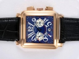 Fake Cool Franck Muller Conquistador Chronograph Automatic Gold Case AAA Watches [L2D4]