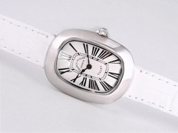 Fake Cool Franck Muller Galet with White Dial and Strap-Lady Size AAA Watches [G9C1]