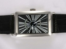 Fake Cool Franck Muller Long Island Automatic with Black Dial AAA Watches [L9K1]