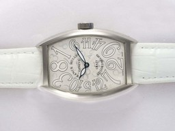 Fake Fancy Franck Muller Crazy Hours Color Dreams Automatic with White Dial AAA Watches [W4R7]