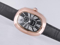 Fake Fancy Franck Muller Galet Rose Gold Case with Black Dial and Strap-Lady Size AAA Watches [T5E3]