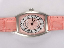 Fake Gorgeous Franck Muller Casablanca 5850 Chronometro Pink Dial and Strap AAA Watches [N8B2]