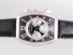 Fake Gorgeous Franck Muller Casablanca Chronograph Automatic with Black Dial AAA Watches [S7G3]