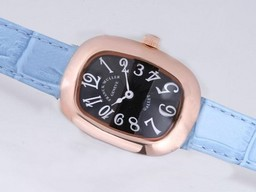 Fake Modern Franck Muller Galet Rose Gold Case with Black Dial AAA Watches [D1P6]