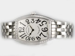 Fake Perfect Franck Muller Casablanca Automatic Diamond Bezel with White Dial AAA Watches [C4O5]