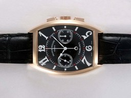Fake Quintessential Franck Muller Casablanca Chronograph Lemania Movement Rose Gold AAA Watches [T8D5]