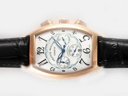 Fake Quintessential Franck Muller Casablanca Chronograph Automatic Rose Gold Case AAA Watches [D3R8]