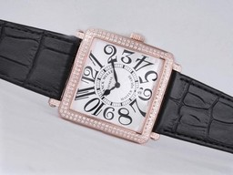 Fake Vintage Franck Muller Master Square Rose Gold Case Diamond Bezel AAA Watches [B7D7]