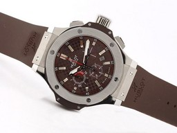 Fake fresca Hublot Big Bang King Cronógrafo Valjoux 7750 Asia SS Case- Brown Dial Relojes AAA [ P6F7 ]