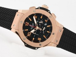 Fake Gorgeous Hublot Big Bang Working Chrono Rose Gold Case with Carbon Fibre AAA Watches [G9K5]