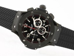 Fake Great Hublot Big Bang Working Chronograph PVD Case-Same Structure as 7750 Movement AAA Watches [F4N2]