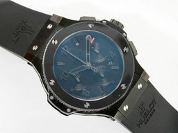 Fake Modern Hublot Big Bang Chronograph Asia Valjoux 7750 Movement-Ceramic AAA Watches [S4G4]