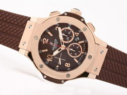 Fake Perfect Hublot Big Bang cronógrafo Valjoux 7750 Asia Movimiento De Oro Rosa AAA relojes [ H2F2 ]