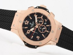Fake Perfect Hublot Big Bang Working Chronograph Rose Gold Case-Same Structure As 7750 Movement AAA Watches [J9U4]