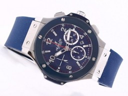 Fake Popular Hublot Big Bang Blue Chronograph Asia Valjoux 7750 Movement-Blue Dial AAA Watches [U2M6]