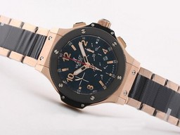 Fake Popular Hublot Big Bang Chronograph Asia Valjoux 7750 Movement Rose Gold AAA Watches [G7L3]