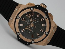 Beliebte gefälschte Hublot Big Bang King- Chronograph Arbeits Rose Gold Case- New Version Uhren AAA [ M1G1 ]