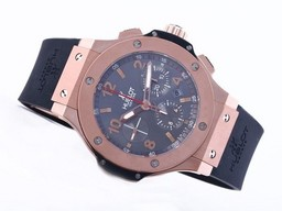 Fake Quintessential Hublot Big Bang Chronograph Asia Valjoux 7750 Movement Rose Gold AAA Watches [H9T3]