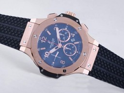 Fake Vintage Hublot Big Bang Chronograph Asia Valjoux 7750 Movement Rose Gold AAA Watches [N6T2]