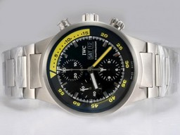 Fake Cool IWC Aquatimer Chronograph Movement Black Dial AAA Watches [Q1J3]