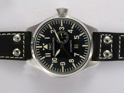 Fake Cool IWC Big Pilot Automatic with Black Dial AAA Watches [W5I8]