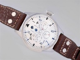 Fake Cool IWC Big Pilot Perpetual Calender White Dial With AR Coating-New Version AAA Watches [M5I9]